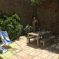 French Holiday Cottage - Front Terrace